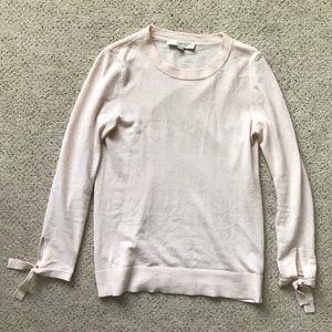 Loft Pink Tie Cuff Sweater Size XS